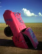 Cadillac Ranch in 1990, Amarillo, Texas