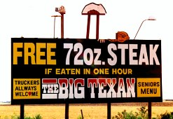 Big Texan billboard, Amarillo, Texas
