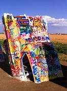 Cadillac Ranch in 1994, Amarillo, Texas