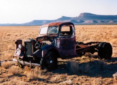 Abandoned truck along old Route 66 in Arizona