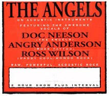 Angels Acoustic Tour Poster 1997